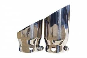 "Exhaust - Exhaust Tips - MBRP - MBRP T5111 5"" OD Angled Single Wall Clampless Dual Tip Kit Powerstoke"