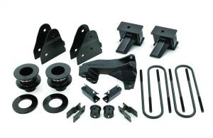 Steering And Suspension - Lift & Leveling Kits - ReadyLift - ReadyLift 2017-2018 FORD F350/F450 DRW 3.5'' SST Lift Kit 4'' Flat Blocks 2 Pc Drive Shaft 69-2734