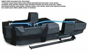 Fuel System & Components - Fuel System Parts - Titan Fuel Tanks - Titan Fuel Tanks GM Extended Cab, Short Bed—SUPER SERIES 2001-2010
