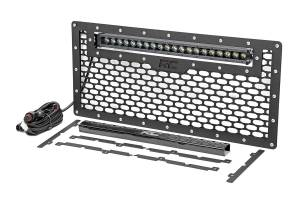 Rough Country - Jeep Mesh Grille w/20in Single Row Black Series LED (07-18 Wrangler JK) - Image 1
