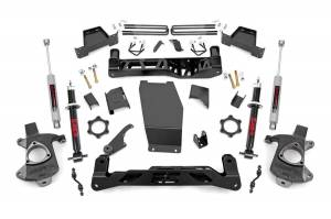 Rough Country - 7in GM Suspension Lift Kit | Lifted Struts (14-17 1500 PU 4WD | Aluminum/Stamped Steel)