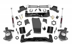 Rough Country - 7in GM Suspension Lift Kit (14-17 1500 PU 4WD | Aluminum/Stamped Steel)