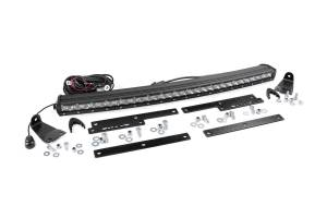 Rough Country - GM 30in Curved Cree LED Grille Kit | Single Row (14-18 Silverado/Sierra 1500)