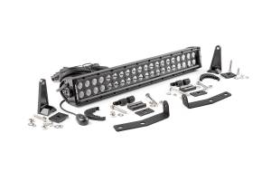 2016-2019 Nissan 5.0L Cummins - Exterior Accessories - Rough Country - Nissan 20in LED Bumper Kit | Black Series (16-19 Titan XD)