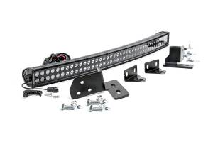 Rough Country - Ford 40-inch Curved LED Light Bar Bumper Kit | Black Series (11-16 F-250 Super Duty)