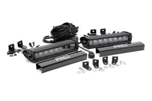 Rough Country - Ford 8in LED Grille Kit | Black Series (17-19 F-250 Lariat)
