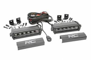 Rough Country - 6-inch Cree LED Light Bars (Pair | Black Series)