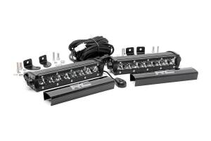 Rough Country - 8-inch Cree LED Light Bars (Pair | Chrome Series)