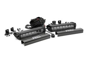 Rough Country - 8-inch Cree LED Light Bars (Pair | Black Series)