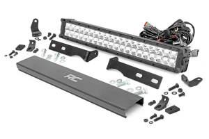 Rough Country - Jeep 20in LED Bumper Kit | Chrome Series w/ Amber DRL (11-19 WK2 Grand Cherokee)