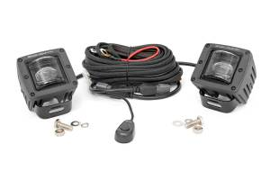 Rough Country - 2-inch Square LED SAE Fog Lights - (Pair)