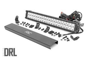 Rough Country - 20-inch Cree LED Light Bar - (Dual Row | Chrome Series w/ Cool White DRL)