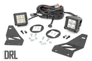 Rough Country - Nissan LED Fog Light Kit | Chrome Series w/ Cool White DRL (05-19 Frontier)