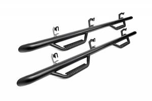 2016-2019 Nissan 5.0L Cummins - Side Steps & Running Boards - Rough Country - Nissan Cab Length Nerf Steps (16-19 Titan XD Crew Cab)