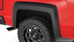 Bushwacker - Bushwacker 15-18 Chevy Silverado 2500 HD Fleetside Extend-A-Fender Style Flares 2pc - Black
