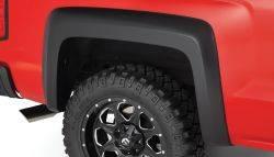 Bushwacker - Bushwacker 07-14 Chevy Silverado 2500 HD Fleetside Extend-A-Fender Style Flares 2pc - Black