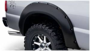 Bushwacker - Bushwacker 11-16 Ford F-250 Super Duty Styleside Pocket Style Flares 2pc - Black