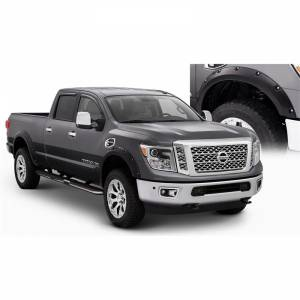2016-2019 Nissan 5.0L Cummins - Exterior Accessories - Bushwacker - Bushwacker 16-19 Nissan Titan XD Pocket Style Flares 4pc 78.0in Bed - Black