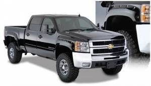 Exterior - Fender Flares - Bushwacker - Bushwacker 40924-02 Pocket Style Fender Flares for 07.5-10 Chevy Silverado 1500, 2500HD, 3500HD (Non-Dually) Standard & Long Bed