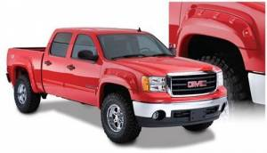 Exterior - Fender Flares - Bushwacker - Bushwacker 40947-02 Cut-Out Style Fender Flare Fits 2007.5-14 GMC 2500 & 3500