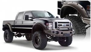 Exterior - Fender Flares - Bushwacker - Bushwacker Cut Out Style Fender Flare Fits 2008-10 Ford Super Duty F-250/350/450