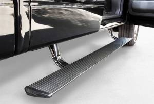 Exterior - Running Boards - AMP Research - AMP Research 2007-2014 Chevy/GMC Silverado/Sierra 2500/3500 Extended/Crew PowerStep - Black