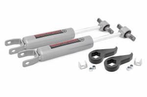 - Rough Country - 1.5 - 2in GM Leveling Torsion Bar Keys w/ Front N3 Shocks (11-19 2500HD/3500HD)