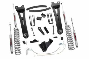 Steering And Suspension - Lift & Leveling Kits - Rough Country - 6in Ford Super Duty Radius Arm Suspension Lift Kit (2008-10 F250/350 4x4 Diesel)