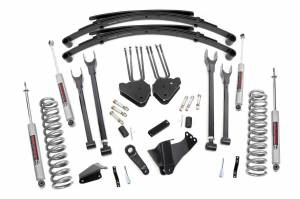 Steering And Suspension - Lift & Leveling Kits - Rough Country - 6in Ford 4-Link Suspension Lift System (2005-07 F250/350 4x4 Diesel)