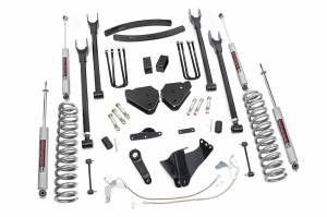 Steering And Suspension - Lift & Leveling Kits - Rough Country - 6in Ford 4-Link Suspension Lift Kit (2008-10 F250/350 4x4 Diesel)