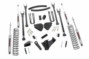 Steering And Suspension - Lift & Leveling Kits - Rough Country - 6in Ford 4-Link Suspension Lift Kit (05-07 F-250/350 | Diesel - w/o Overloads )