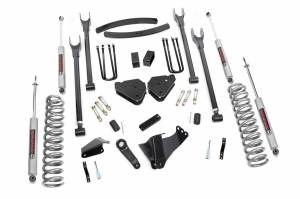 Steering And Suspension - Lift & Leveling Kits - Rough Country - 6in Ford 4-Link Suspension Lift Kit (05-07 F-250/350 | Diesel - w/Overloads )