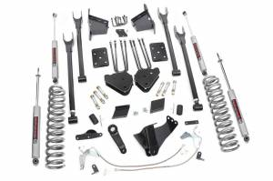 Steering And Suspension - Lift & Leveling Kits - Rough Country - 6in Ford 4-Link Suspension Lift Kit (11-14 F-250 4WD | Overloads)