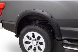 2016-2019 Nissan 5.0L Cummins - Exterior Accessories - Bushwacker - Bushwacker 16-19 Nissan Titan Rear XD Pocket Style Flares 2pc 78.0in Bed - Black