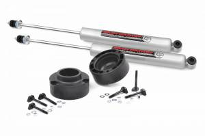 Steering And Suspension - Lift & Leveling Kits - Rough Country - 2.5in Dodge Leveling Lift Kit 94-12 Ram 3500 & 94-13 Ram 2500 W/ Front Shocks