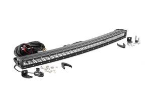 Lighting - Offroad Lights - Rough Country - 30-inch Curved Cree LED Light Bar - (Single Row | Chrome Series)
