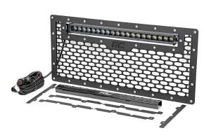 Rough Country - Jeep Mesh Grille w/20in Single Row Black Series LED (07-18 Wrangler JK) - Image 3
