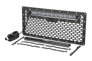 Rough Country - Jeep Mesh Grille w/20in Single Row Chrome Series LED (07-18 Wrangler JK) - Image 3