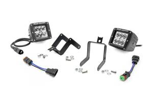 Rough Country - 2-inch Chrome Series CREE LED Fog Light Kit (2011-16 Ford Super Duty)