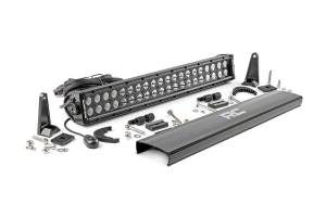 Ford Powerstroke - Rough Country - 20-inch Cree LED Light Bar - (Dual Row | Black Series)
