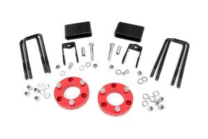 2016-2019 Nissan 5.0L Cummins - Suspension Parts, Lift & Leveling Kits - Rough Country - 2in Nissan Leveling Lift Kit | Red (16-20 Titan XD 2WD/4WD)