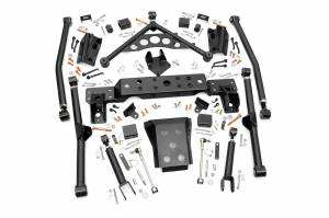 Steering And Suspension - Control Arms - Rough Country - 4in Jeep Long Arm Upgrade Kit