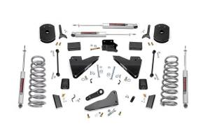 Steering And Suspension - Lift & Leveling Kits - Rough Country - 5in Dodge Suspension Lift Kit | Coil Springs | Radius Drops (14-18 Ram 2500 4WD | Diesel)