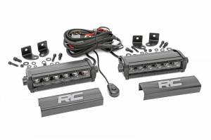 Lighting - Offroad Lights - Rough Country - 6-inch Cree LED Light Bars (Pair | Black Series)