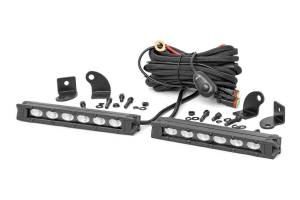 Lighting - Offroad Lights - Rough Country - 6-inch Slimline Cree LED Light Bars (Pair | Black Series)
