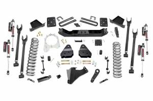 Steering And Suspension - Lift & Leveling Kits - Rough Country - 6in Ford 4-Link Suspension Lift Kit | Vertex Reservoir Shocks (17-19 F-250/350 4WD | 4in Axle W/Overloads)