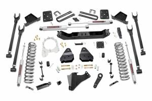 Steering And Suspension - Lift & Leveling Kits - Rough Country - 6in Ford 4-Link Suspension Lift Kit (17-19 F-250/350 4WD | Diesel | 4in Axle | w/ Overloads)