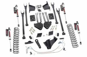 Steering And Suspension - Lift & Leveling Kits - Rough Country - 6in Ford 4-Link Suspension Lift Kit | Vertex (15-16 F-250 4WD | No Overloads)