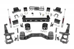 Ford Powerstroke - 2018-20 Ford F-150 3.0 Powerstroke - Rough Country - 6in Ford Suspension Lift Kit (15-20 F-150 2WD)
