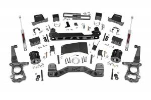 Ford Powerstroke - 2018-20 Ford F-150 3.0 Powerstroke - Rough Country - 6in Ford Suspension Lift Kit (15-20 F-150 4WD)